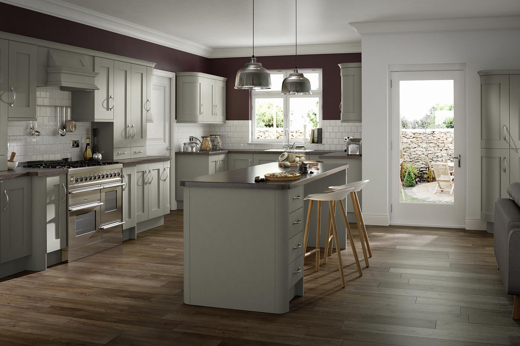 VARALLO Roundel - Dove grey kitchen units